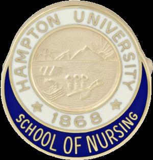 Hampton University School of Nursing Pin